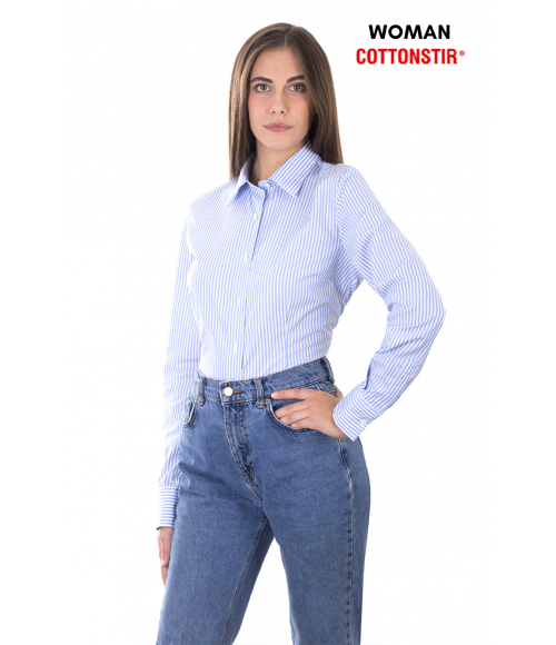 Camicia slim, in puro cotone COTTONSTIR, Ingram Donna